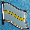 Slaskie Flag Pin badge, Hat pin Slaskie, Polish state Slaskie flag pin