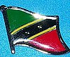 St.Kitss & Nevis Flag Badge, Hat Pin, Anstecknadel St.Kitts