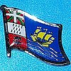 St.Pierre Flag Badge, Hat Pin, Anstecknadel St.Pierre