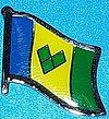 St.Vincent & Grenadines Flag Badge, Hat Pin, Anstecknadel
