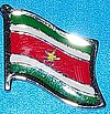 Surinam Flag Badge, Hat Pin Surinam, Anstecknadel Suriname