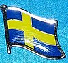 Sweden Flag Badge, Sweden Hat Pin, Lapel Pin, Anstecknadel Schweden