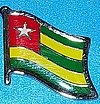 Togo Flag Badge, Togo Hat Pin, Togo Anstecknadel