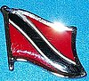 Trinidad and Tobago Hat Pin, Flag Badge Trinidad Tobago, Anstecknadel Trinidad