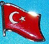 Turkey Hat Pin, Turkey Flag Badge, Anstecknadel Turkei