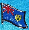 Turks & Calcos Isl. Hat Pin, Flag Badge, Anstecknadel