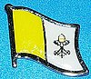 Vatican City Flag Badge, Hat Pin Vatican City, Anstecknadel Vatican City