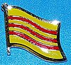 Vietnam South Hat Pin, Flag Badge Vietnam South, Anstecknadel Sued Vietnam