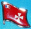 Wallis & Futuna Flag Badge, Anstecknadel, Hat Pin Wallis and Futuna