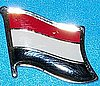 Yemen Hat Pin, Flag Badge Yemen, Yemen Anstecknadel