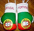 Portugal Mini Boxing Gloves, Mascot for rear view mirror, decorate your car