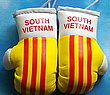 Vietnam South, South Vietnam Mascot, rear view mirror Boxing Gloves