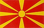 Macedonia Car Flag sticker,m decal, autoaufkleber mazedonien
