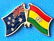 Australia/Bolivia Friendship Pin, Twin Pin, Double Pin