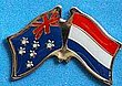 Australia/Netherlands Crossed Pin, Double Pin Australia/Holland