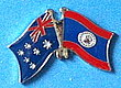 Australia/Belize Friendship Pin