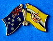 Australia/Brunei Friendship Pin, Twin Pin