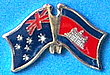 Asutralia/Cambodia Friendship Pin, Twin Pin