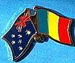 Australia/Chad Friendship Pin, Twin Pin