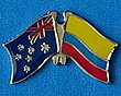 Australia/Colombia Twin Pin, Friendship Pin
