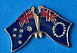 Australia/Cook Island Twin Pin, Friendship Pin