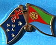 Twin Pin Australia/Eritrea, Crossed Pin, Double Pin