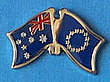 Australia/Europe Flag Pin, Friendship Pin, Crossed Flag Pin Australia/Europe