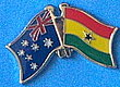 Twin Pin Australia/Ghana, Crossed Flag Pin