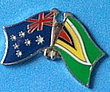 Twin Pin Australia/Guyana, Crossed Flag Pin