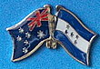 Twin Pin Australia/Honduras, Crossed Flag Pin