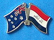 Twin Pin Asutralia/Iraq New Flag