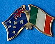 Twin Pin Asutralia/Ireland, Crossed Flag Pin