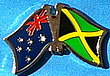 Twin Pin Asutralia/Jamaica, Crossed Flag Pin