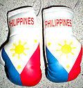 Philippines Mini boxing Gloves, Mascot for rear view mirror Philippines, Kikhandschuh Philippines