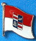 Dubrovnik Neretva Flag Badge, Hat Pin, Anstecknadel