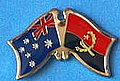 Australia/Angola Crossed fLag, Friendship in Australia/Angola