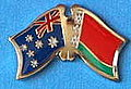 Australia/Belarus Crossed Flag Pin, Double Pin Australia/Belarus