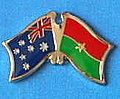 Australia/Burkina Friendship Pin, Crossed Flag Pin Australia/burkina