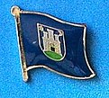 Zqagreb City Flag Badge, City of Zagreb Flag Pin