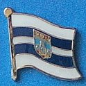 Osijek Baranja Flag Pin, Flag Badge Osijek, Hat Pin, Anstecknadel