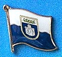 Zadar Flag Badge, Zadar Hat Pin, Zadar Anstecknadel