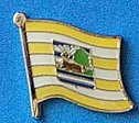 Vukovar Srijem Flag Pin, Flag Badge, Hat pin, Anstecknadel
