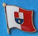 Medjimurje Flag Badge, Hat Pin Medjimurje Croatia County Pin