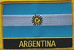 Argentina country patch, flag patch argentina