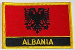 Country Patch Albania, Albania Iron on Patch, Identifikation patch Albanien