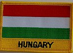 Hungary Patch, iron on patch Hungary