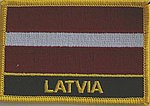 Latvia flag patch, iron on patch Latvia, Latvia country patch, Latvia