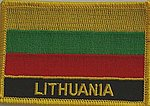 Lithuania iron on patch, Country Patch Lithuania, Lithuania flag patch, Lithuania