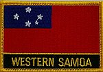 Western Samoa flag patch, iron on patch samoa, country patch samoa
