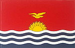 Kiribati Flag Sticker, Car Sticker, Bumperbar flag sticker, Autoaufkleber Kiribati